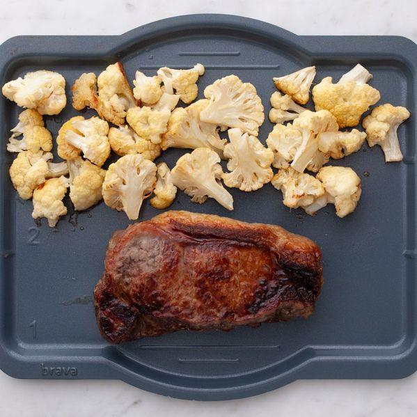 NY Strip Steak and Cauliflower narrow display