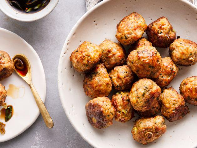 Asian Turkey Meatballs wide display