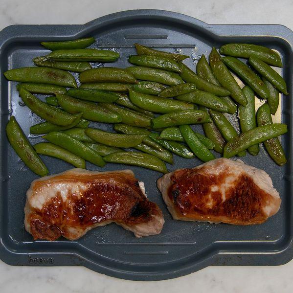 Pork Chops (Boneless) and Snap Peas narrow display