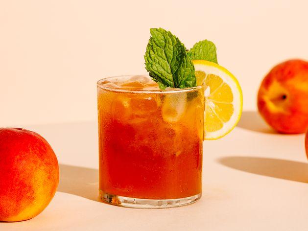 Roasted Peach Bourbon Smash wide display