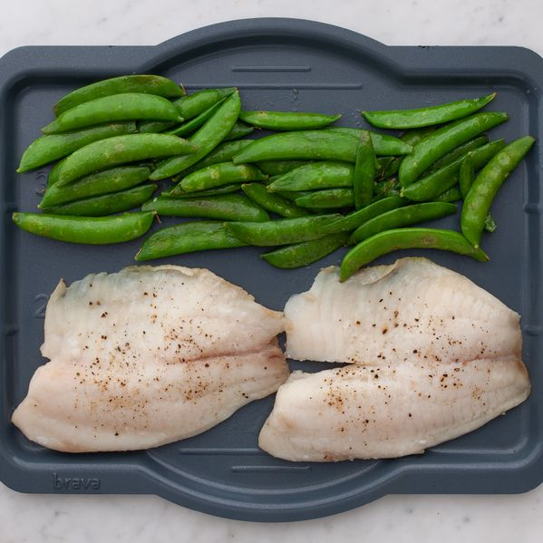 Tilapia and Snap Peas narrow display