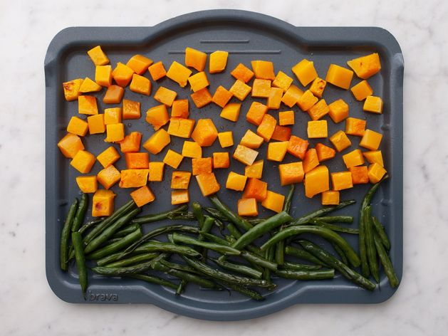 Butternut Squash and Green Beans wide display