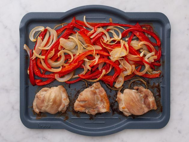 Chicken Thighs (Boneless and Skinless) with Onions and Peppers wide display