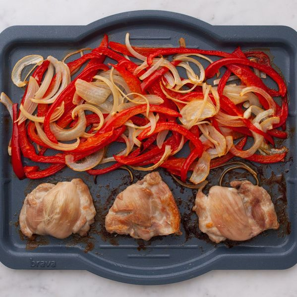 Chicken Thighs (Boneless and Skinless) with Onions and Peppers narrow display