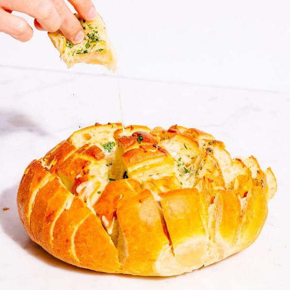 Pull-Apart Cheesy Garlic Bread narrow display