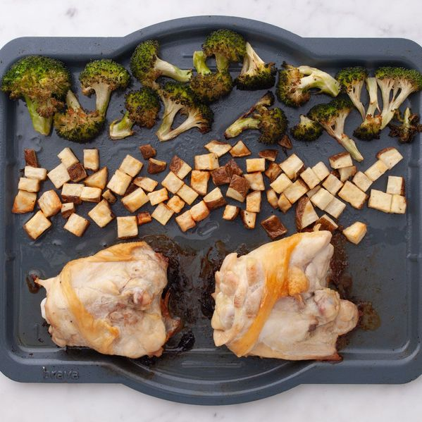 Chicken Thighs (Bone-In and Skin-On), Potatoes and Broccoli narrow display