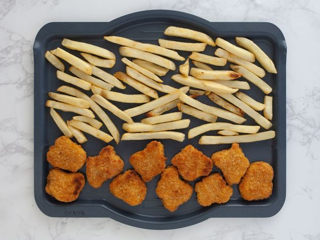 Chicken Nuggets and Frozen French Fries wide display