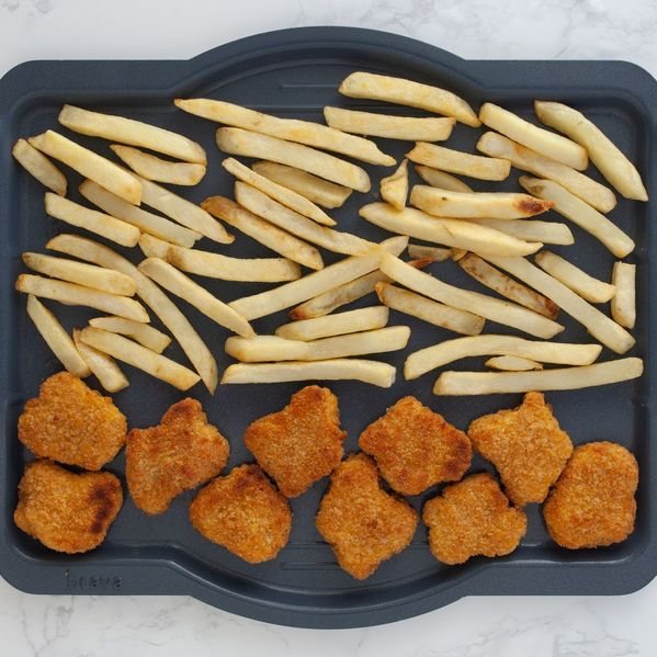 Chicken Nuggets and Frozen French Fries narrow display