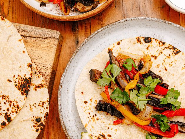 Portobello Mushroom Fajitas wide display