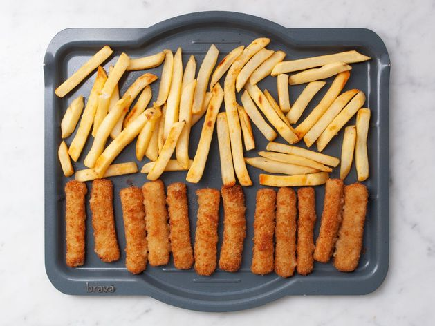 Frozen Fish Sticks and Frozen French Fries wide display