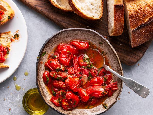 Roasted Tomato Bruschetta wide display