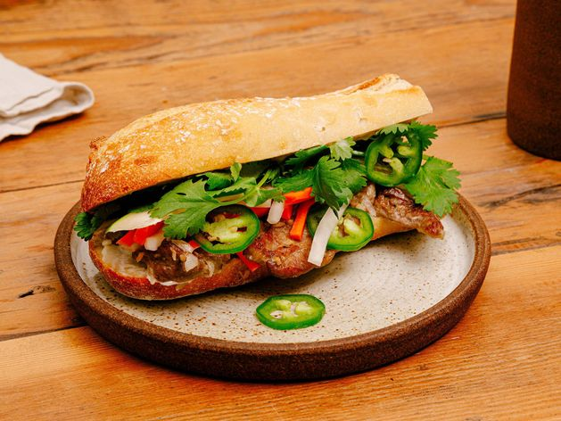 Lemongrass Pork Bánh Mì wide display