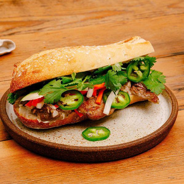 Lemongrass Pork Bánh Mì narrow display
