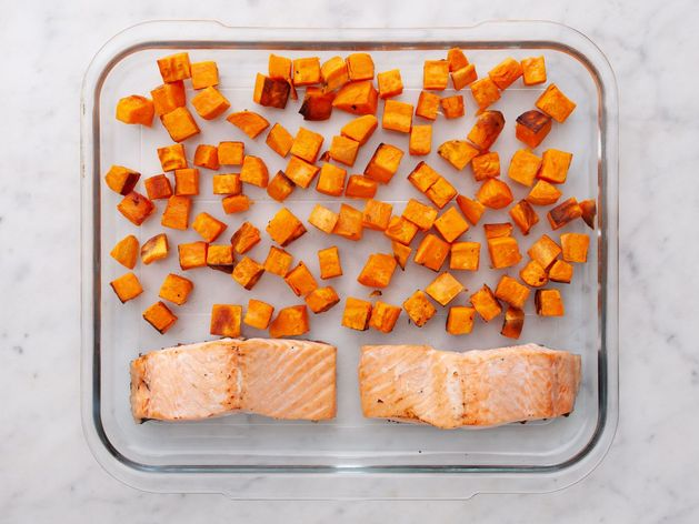 Salmon (Skinless) and Sweet Potatoes wide display