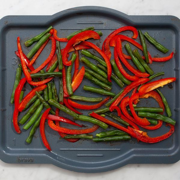 Green Beans and Bell Peppers narrow display
