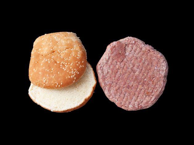 Frozen Hamburger Patties with Buns wide display