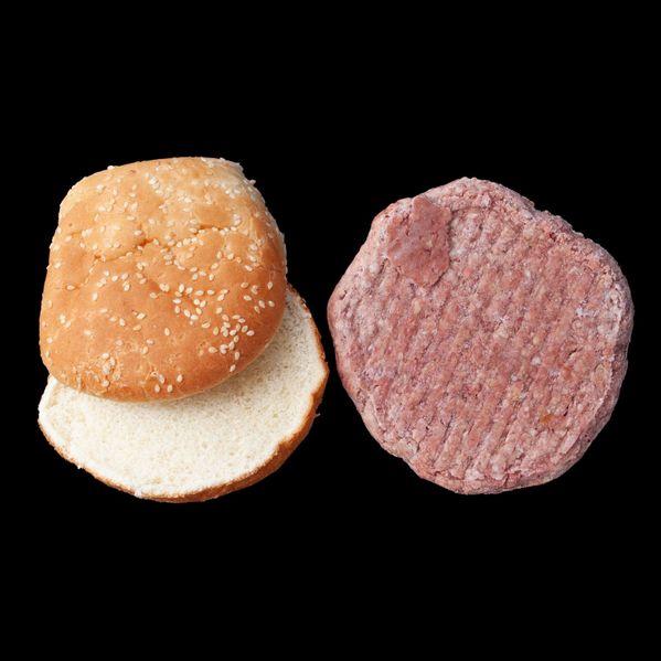 Frozen Hamburger Patties with Buns narrow display