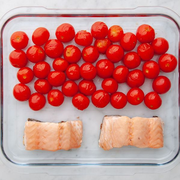 Salmon (Skinless) and Cherry Tomatoes narrow display