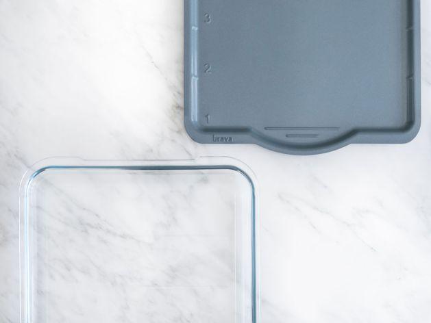 Brava Glass Tray wide display