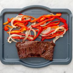 Skirt Steak with Onions & Peppers