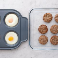 Eggs and Frozen Sausage Patties