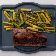 NY Strip Steak and Asparagus