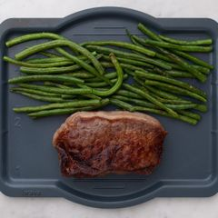 NY Strip Steak and Green Beans