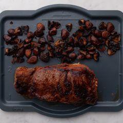 NY Strip Steak and Mushrooms