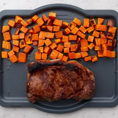 NY Strip & Sweet Potatoes