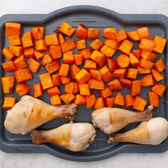 Chicken Drumsticks & Sweet Potatoes