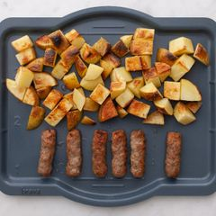 Frozen Sausage Links and Potatoes
