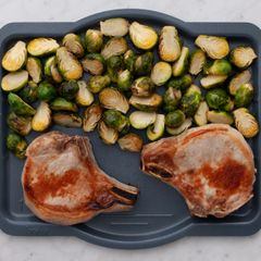 Bone-In Pork Chops & Brussels Sprouts