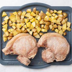 Pork Chops (Bone-In) and Potatoes