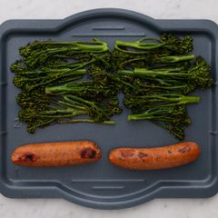 Sausages & Baby Broccoli