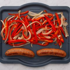 Sausages with Onions & Peppers