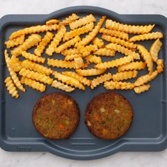 Frozen Veggie Burgers and Frozen French Fries
