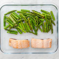 Salmon (Skinless) and Asparagus