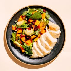 Chicken Breasts, Butternut Squash, and Brussels Sprouts