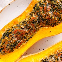 Spinach and Cheese Stuffed Butternut Squash