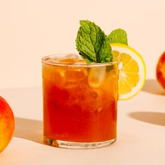 Roasted Peach Bourbon Smash